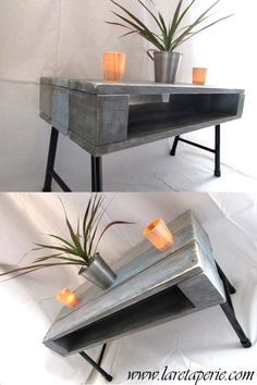 1000 ideas about table basse en palette on pinterest - Transformer palette table basse ...
