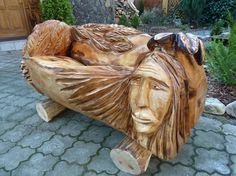 wood carving bench from woodcarving.sk