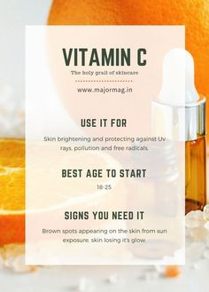 Vitamin C is a potent antioxidant and by using it regularly, you can expect a number of skin benefits. Start with a Vitamin C infused serum to. Skin Care Regimen, Skin Care Tips, Skin Tips, Beauty Care, Beauty Skin, Diy Beauty, Homemade Beauty, Beauty Tips For Skin, Creme Bio
