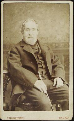 www.pastonpaper.com | Carte De Visite of an Unidentified Male, Halifax, 1860s Man Photo, Facial Hair, Old Photos, Men, Fictional Characters, Carte De Visite, Old Pictures, Face Hair, Vintage Photos