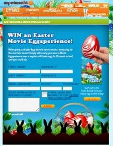 Win An Easter Movie Eggsperience!
