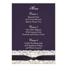 Shop FAUX burlap lace, rustic wedding menu cards created by blessedwedding. Rustic Wedding Menu, Wedding Menu Cards, Wedding Rsvp, Wedding Save The Dates, Wedding Thank You Cards, Save The Date Cards, Shabby Chic Wedding Invitations, Burlap Lace, Fruit In Season