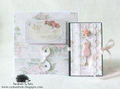 DIY, rose, cd box, folder CD & mini notebook by cuda od ręki