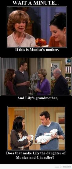 Friends and How I Met Your Mother - seriously so cool if this was meant to be this way