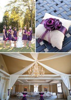 Purple and Pink Elegant North Carolina Wedding