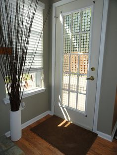 """Spray """"etched glass"""" - possible solution for our back door."""
