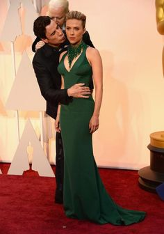 Oh my god, this is hilarious!!  # Hilarious Photoshopped Images Of John Travolta Creeping On Scarlett Johannson At The Oscars 15