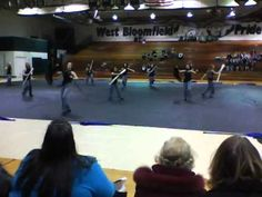 Godwin Heights WinterGuard:  Bets is the third to start dancing.