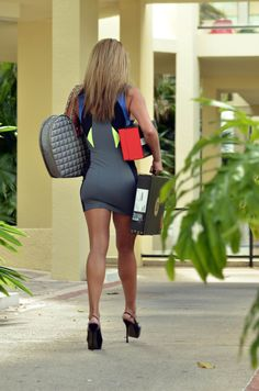 Tight dress and heels in public - from www.tight-pictures.com. The home of tight clothing images