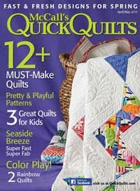 I'm a Cover Girl....... My Quilt is on the cover of McCall's  Quick Quilts
