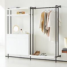 Products Flex Modular Clothing Rack and Closed Storage Cabinet with Shelves Roofing Q&A: New Roof An Modular Storage, Storage Sets, Storage Compartments, Storage Rack, Drawer Shelves, Storage Cabinets, Display Cabinets, Shelving, White Shelves