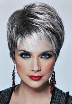 Black lowlights for short hair women over 60 - Google Search