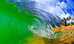 Dark Roasted Blend: Inside a Wave: Epic Photography by Clark Little