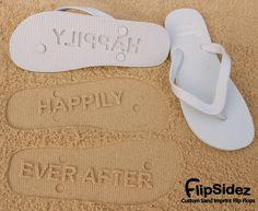 Custom Sand Imprint Flip Flops by FlipSideFlipFlops on Etsy, $18.95
