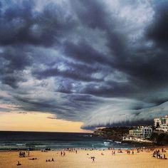 Storm clouds over Sydney.