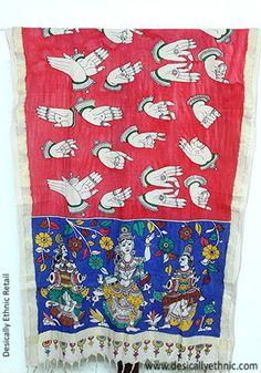 Kalamkari Dupatta – Desically Ethnic