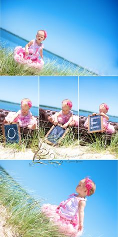 """1st Birthday -love the idea of printing 3 different pictures in 3 different scenes with the """"one"""","""
