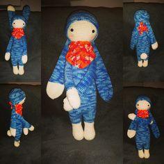 RITA the rabbit made by Anna S. / crochet pattern by lalylala