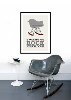 Typography poster print Retro graphic design font mid century modern kitchen art office - Ampersand 50 x 70 cm poster Digital print. 50 x 70 cm *** This design is also available in an x 42 cm size *** Eames Rocker, Eames Rocking Chair, Typography Prints, Typography Poster, Retro Typography, Poltrona Design, Deco Retro, Retro Print, Retro Graphic Design