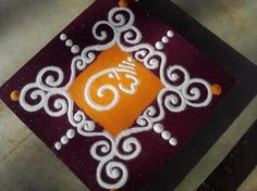 Presenting here the beautiful collection of Ganesh Chaturthi Rangoli designs you can opt this year. Ganesh Chaturthi, the most popular . Easy Rangoli Designs Diwali, Rangoli Simple, Indian Rangoli Designs, Simple Rangoli Designs Images, Rangoli Designs Latest, Rangoli Designs Flower, Free Hand Rangoli Design, Small Rangoli Design, Rangoli Ideas