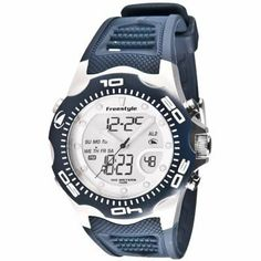 Freestyle FS84878 Mens Shark X 2.0 Ana-Dig Blue PU Strap Watch Freestyle. $87.96