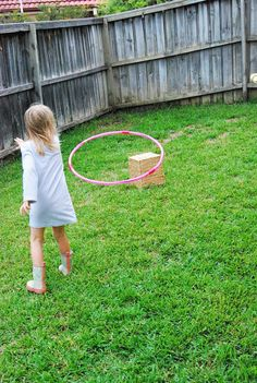Hula Hoop Ring Toss- pinned by @PediaStaff – Please Visit ht.ly/63sNtfor all our pediatric therapy pins