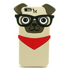 iPhone 6/6S CaseBlingy's Clear Series Dog Printed Flexible Soft Slim Transparent Rubber Clear TPU Case for Apple iPhone 6/6S (Fun Husky) | CanineGifts.net