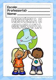 Lindas Capas Ou Frentes De Caderno Coloridas Geografia E Historia