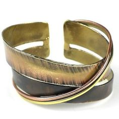 Chance Meeting Cuff - Brass Images (C)