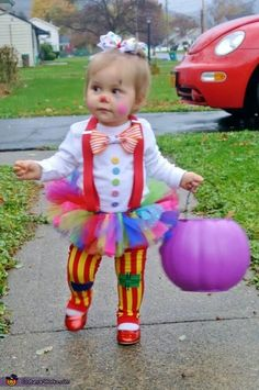 Cute little Clown - Homemade costumes for babies
