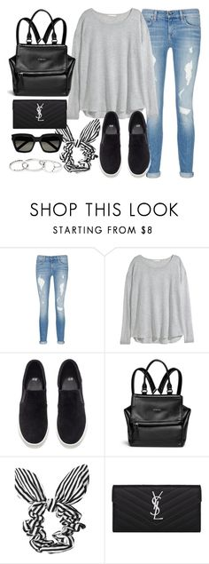 """""""Style #10063"""" by vany-alvarado ❤ liked on Polyvore featuring rag & bone/JEAN, H&M, Givenchy, Topshop and Yves Saint Laurent"""