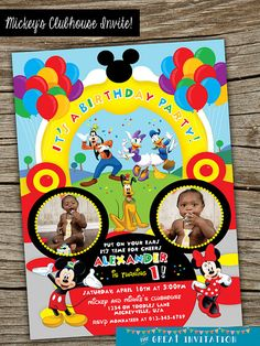 Mickey Mouse Clubhouse Theme Birthday Joint by TheGreatInvitation