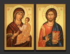 Wedding Icon, True Faith, Byzantine Art, Orthodox Icons, Madonna, Jesus Christ, Painting, Christians, God