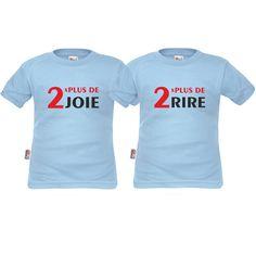 Tshirts enfant jumeaux: 2x plus de joie / 2x plus de rire SiMedio