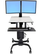 dual monitor convertible stand up desk