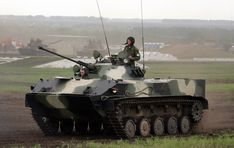 """The BMD-3  (""""Combat Vehicle of the Airborne"""") light infantry fighting vehicle."""