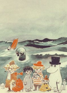 Tales from Moomin valley Illustration By Tove Jansson Tove Jansson, Totoro, Kawaii, Les Moomins, Art Postal, Envelope Art, Inspiration Art, All Nature, Children's Book Illustration