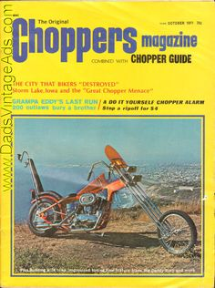 Cover: Stew Storar's Bug-Stoppin' Sportster; Feature Bikes: Bugstoppin' Sportster, Heavy Pan for a Heavy Dude, A Hog's Life Frisco Style, Dragster turned custom, Beginner's Skill = A Solid Chopper; Features: The City That Bikers Destroyed - Storm Lake, Iowa; Grampa Eddy's La