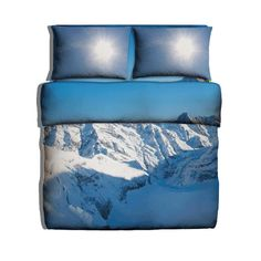 Check out this bedding with photoprint of Alps mountains