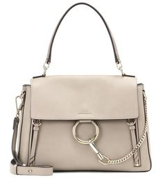 CHLOE Calfskin Medium Faye Day Shoulder Bag Motty Grey Comes with card of authenticity No dust bag Leather Purses, Leather Handbags, Leather Bag, Grey Handbags, Chloe Handbags, Purses And Handbags, Chloe Faye Small, Faye Bag, Beige
