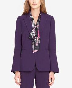 Tahari Asl Bell-Sleeve Blazer, Regular & Petite - Purple 12P