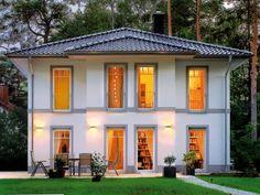 Stadtvillen | Villa Lugana (Putzfassade), Gartenansicht des Traumhauses
