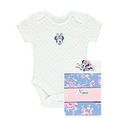 5 Pack Disney Minnie Mouse Bodysuits | Baby | George