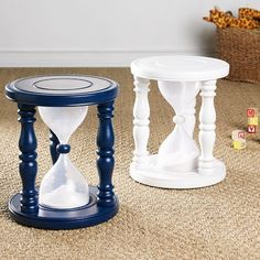 We need this at our house!  Hour glass time out stool.
