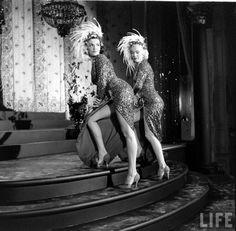 On the set of 'Gentlemen Prefer Blondes', 1953