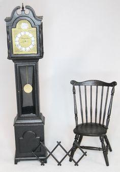 Chrysbon Grandfather Clock Dollhouse Miniature Kit, Black | eBay