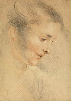 Study of a Woman's Head by @artistwatteau #rococo