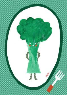 Vegetables by joanna grochocka, via Behance