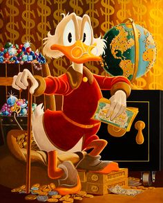 Scrooge McDuck. Painting this, framing it, and giving it to my brother for Christmas.