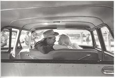 """Clark Gable and Marilyn Monroe on the set of """"The Misfits"""", 1960."""